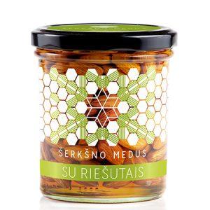 Medus su migdolų riešutais